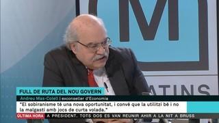"""Mas-Colell: """"El sobiranisme té una nova oportunitat i convé que no la malgasti amb jocs tàctics de curta volada"""""""
