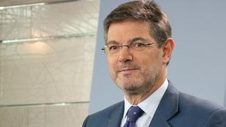 El ministre de Justícia, Rafael Catalá, aquest 02/03/2018 a la roda de premsa posterior al Consell de Ministres