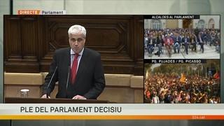 """Germà Gordó (diputat no adscrit): """"El vot que emetrem no és un punt i a part. Res s'acaba. No es pot acabar el diàleg"""""""