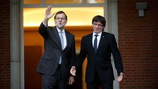Aquest divendres fa 17 mesos que Rajoy i Puigdemont es van reunir a la Moncloa (Reuters)