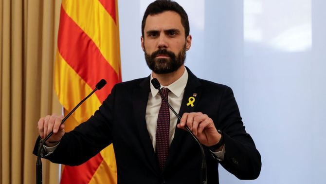 El president del Parlament, Roger Torrent (Reuters)