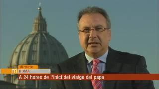 Tot a punt per la visita del papa