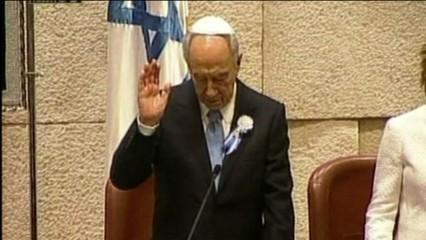 Mor Shimon Peres, exprimer ministre i expresident d'Israel, i premi Nobel de la Pau