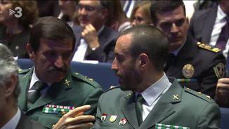 A la dreta, el tinent coronel de la Guàrdia Civil Daniel Baena