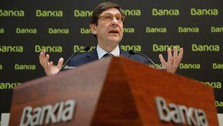 El president de Bankia, José Ignacio Goirigolzarri, aquest matí durant la presentació del pla estratègic 2018-2020 (EFE)