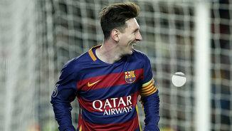 Messi en l'últim partit del Barça, al Camp Nou contra la Roma (EFE)