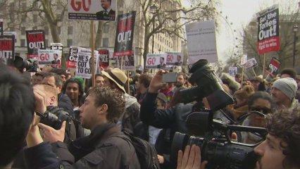 """Protestes en contra de David Cameron pels """"papers de Panamà"""""""