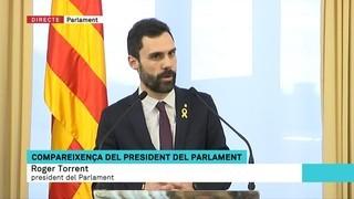"""Torrent ajorna el ple i diu que el govern espanyol """"comet frau de llei amb una impugnació preventiva"""""""