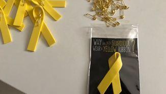 Llaços grocs en suport dels polítics a la presó al Mobile World Congress