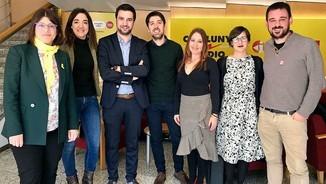 Gemma Geis (JxCat), Marta Giménez (PP), Pol Gibert (PSC), David Cid (CatComú-Podem), Sonia Sierra (C's), Jenn Díaz (ERC) i Lluc Salellas (CUP)