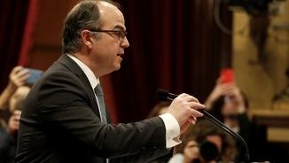 Jordi Turull durant el discurs del ple d'investidura (Reuters)