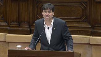 Sergi Sabrià durant la seva intervenció al Parlament