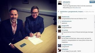 Elton John i David Furnish Instagram.