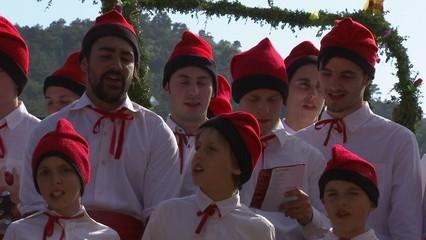 Les caramelles d'Aguilar de Segarra, una tradició que té assegurat el relleu generacional