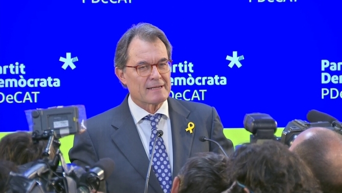 Artur Mas, en la compareixença d'aquest dimarts