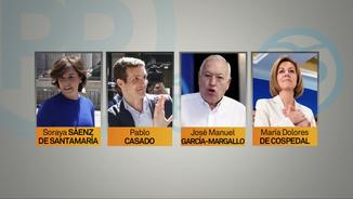 Els principals candidats a presidir el PP