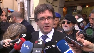 Carles Puigdemont a Amer