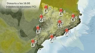 Comparativa temperatures màximes propers dies