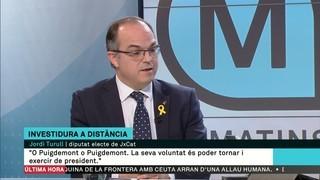 """Jordi Turull: """"De base jurídica per investir president Puigdemont (a distància) n'hi ha molta, moltíssima"""""""
