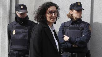 Marta Rovira sortint del Suprem després de declarar, dilluns de la setmana passada (EFE)