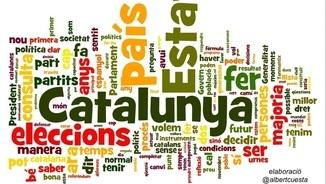 El núvol de paraules de la conferència del president Mas d'aquest 25 de novembre.