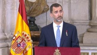 Felip VI, en l'acte d'entrega de les condecoracions al Mèrit Civil