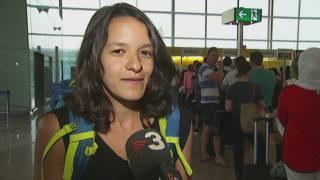 Continuen les cues de Vueling a l'aeroport del Prat