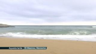 Les restes del temporal de mar es noten al Maresme