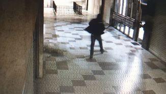 Imatge d'una càmera de seguretat que va permetre la detenció del presumpte agressor