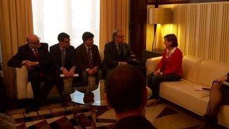 El grup promotor de Constituïm, aquest dimecres amb Carme Forcadell al Parlament