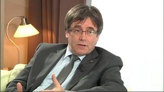 """Puigdemont: """"Esclar, si guanyo les eleccions, confio anar a prendre possessió del càrrec"""""""