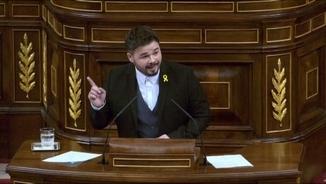 Rufián aprofita la condemna d'Estrasburg a Espanya per reclamar al PSOE que surti del bloc del 155