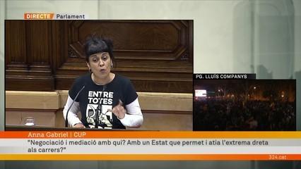 """Anna Gabriel: """"Avui tocava proclamar solemnement la república catalana i potser hem perdut una oportunitat"""""""