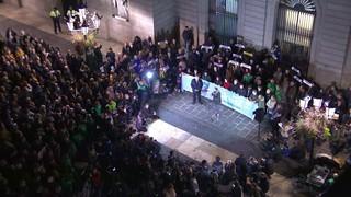 Concentració pels presos polítics a la Plaça Sant Jaume