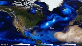 Moviment dels aerosols  (GMAO/ Goddard Space Flight Center/NASA)