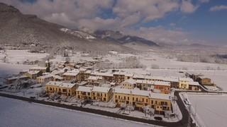 La neu a vista de dron, a Osona i a la Garrotxa