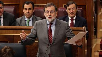Mariano Rajoy a la sessió de control