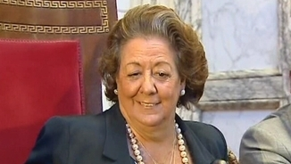 Rita Barberá en el seu últim ple municipal