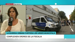 La Guàrdia Urbana custodia les urnes municipals