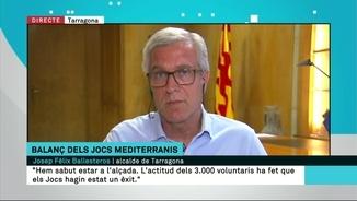 """Josep Fèlix Ballesteros: """"Els Jocs han estat un èxit gràcies en bona part a l'actitud dels 3.000 voluntaris"""""""