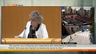 """Mirella Cortès (ERC): """"Estem una mica farts que els partits minoritaris (a Catalunya) ens vulguin imposar la manera de veure la vida"""""""