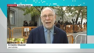 """Ernesto Ekaizer: """"Hi ha desconnexió entre el ministre Català i el fiscal Maza"""""""