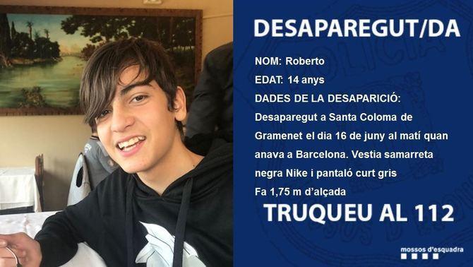 Els Mossos busquen un noi de 14 anys desaparegut a Santa Coloma de Gramenet