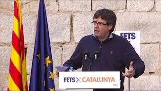 Puigdemont en un acte a Vilanova i la Geltrú