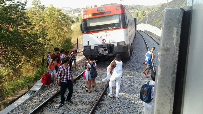 Descarrila un tren de la línia R4, a Sant Vicenç de Castellet