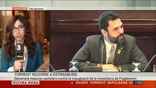 Torrent demanarà mesures cautelars a Estrasburg pel dret a investir Puigdemont
