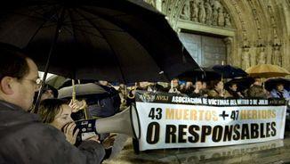 Manifestació de víctimes per l'accident del metro