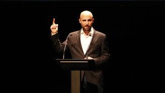Jordi Graupera ha presentat al Teatre Victòria la seva proposta de primàries per a Barcelona (ACN)