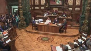 Declaracions del ple de Barcelona sobre els aldarulls de Gràcia