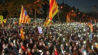 Un moment de la manifestació de l'11 de novembre a Barcelona